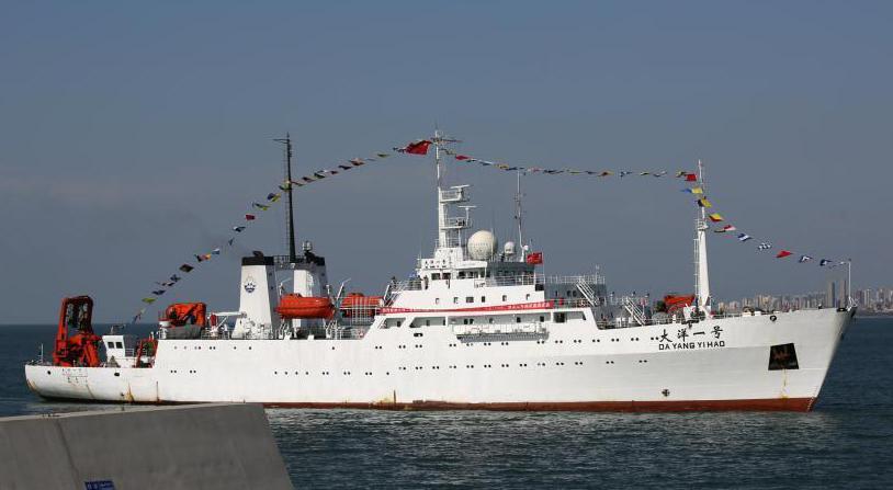 """""""大洋一号""""科考船完成中国自主研发深海装备海试任务返"""