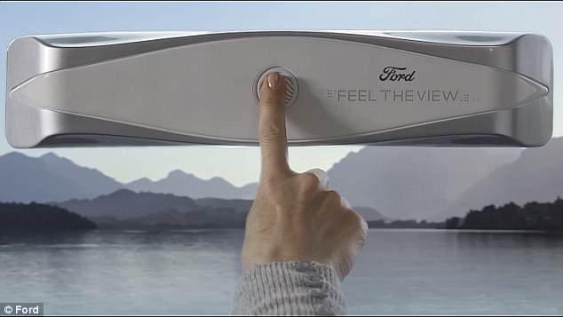 福特揭秘未来车窗技术 盲人也可触摸景色