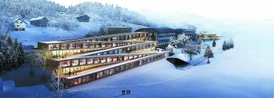 瑞士一酒店屋顶变身滑雪胜地 直通向钟表匠小路