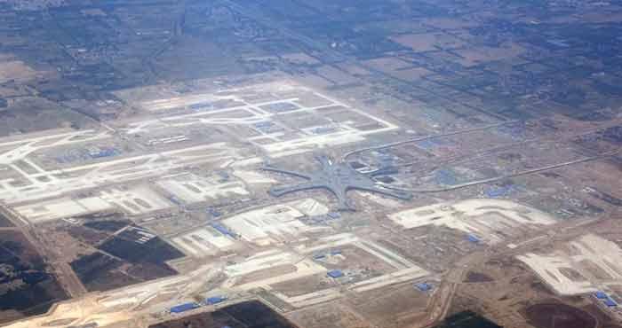 空中俯瞰北京新机场:已初具规模