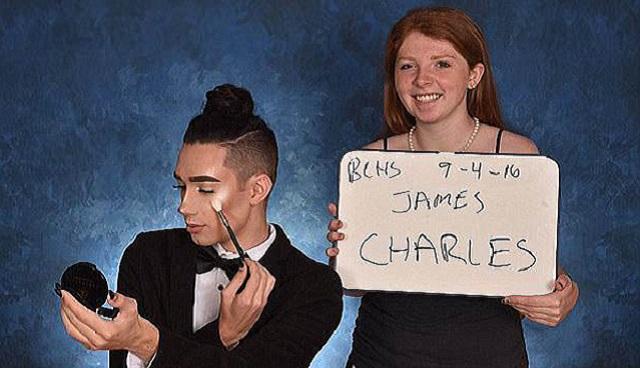 加18岁男孩凭借高中纪念册精致妆容走红网络