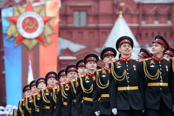 莫斯科红场举行胜利日阅兵带妆彩排