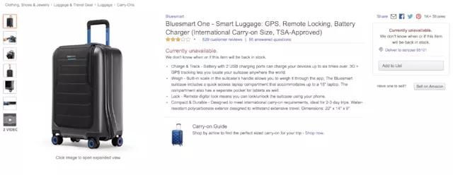 创业公司停业?因美国限制智能旅行箱托运与登机