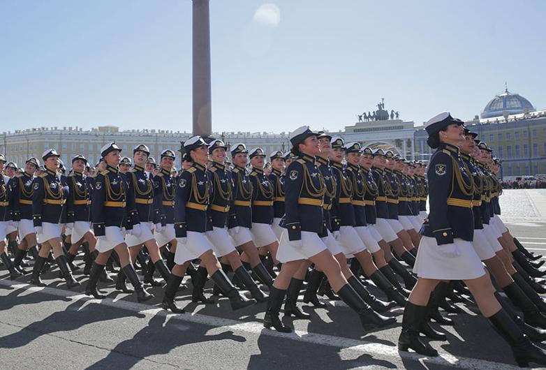 圣彼得堡举行胜利日阅兵彩排