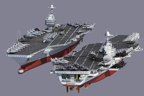美媒:中国将造核动力航母 排水量或达11万吨