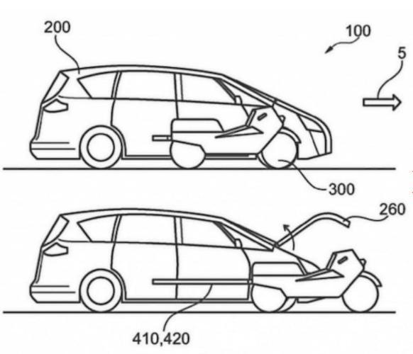 将摩托车整合到轿车内 福特曝多模式交通工具专利