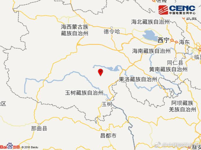 青海玉树州称多县发生3.3级地震 震源深度9千米