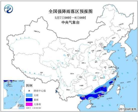 暴雨黄色预警:未来三天浙江福建广东等地有暴雨