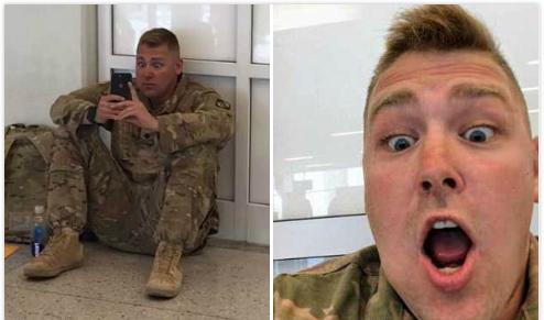 美国一士兵因飞机晚点在机场视频通话见证女儿出生