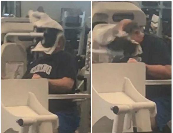 误操作!加州男子健身时用头推动颈部训练器