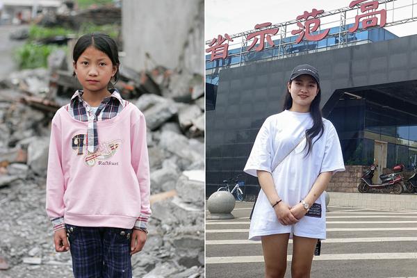 回访汶川地震灾区孩子:她曾躲过一劫 如今是大学舞蹈团长