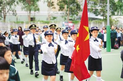 爱国正气在港加速培育:升国旗唱国歌已成学校惯例