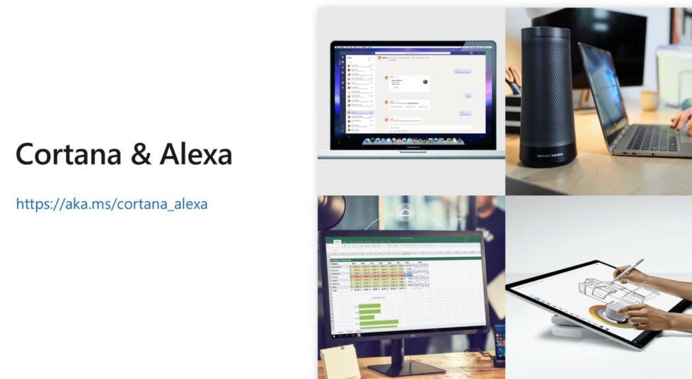 微软展示Cortana和亚马逊Alexa达成首次合作