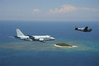 多面出击!日P-1反潜机赴印联演同时还抵达南海