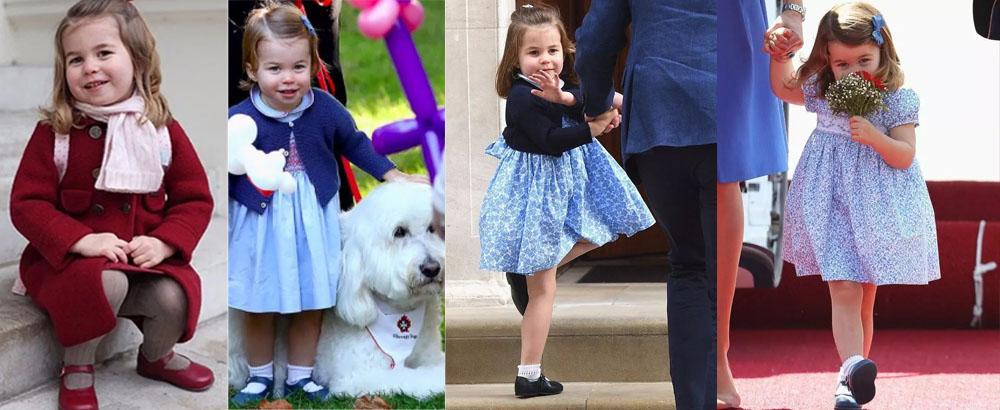 夏洛特公主3岁了,她简直是英国女王的翻版…