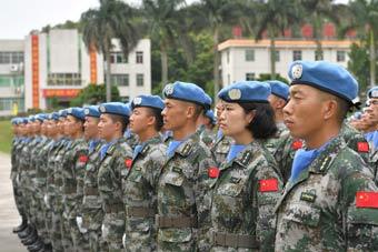中国蓝盔!第十七批赴黎维和建筑工兵分队成立