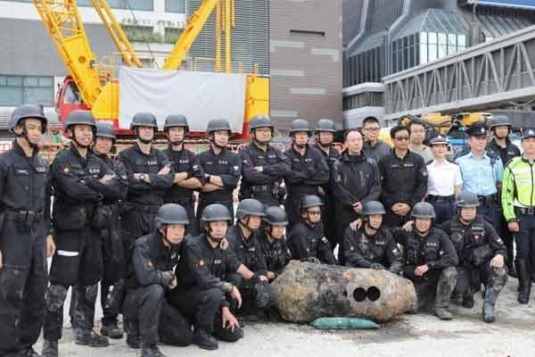 香港湾仔年内第三枚炸弹成功折除