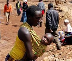 肯尼亚暴雨致一座大坝决堤 席卷大片农田房屋
