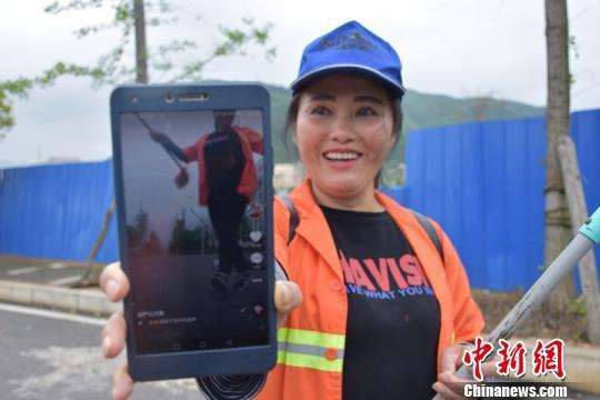 贵州环卫视频v视频之余拍跳舞视频走红网络下爱奇艺大妈图片