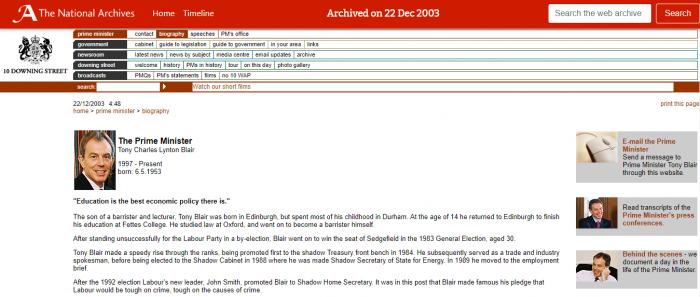 英国政府网站迎来升级 可以更容易浏览官员档案