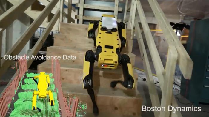 波士顿动力机器狗SpotMini已经能一个人遛弯