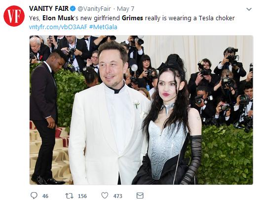 """网友为马斯克新身份""""Grimes男友""""开发Chrome扩展"""