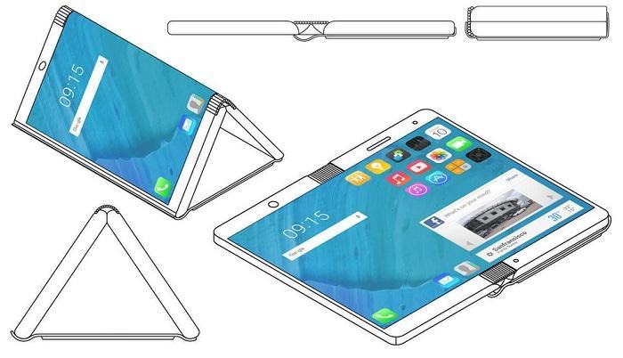 摩托罗拉获得一项折叠屏手机概念设计专利