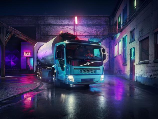 沃尔沃FE电动卡车明来了:负责垃圾收集清理