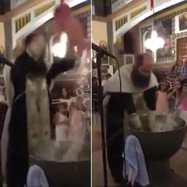 最暴力洗礼!塞浦路斯一主教粗暴为婴儿洗礼引热议