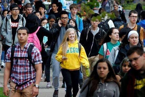 2018留学美国大数据, 亚洲学生最多, 比例非常高