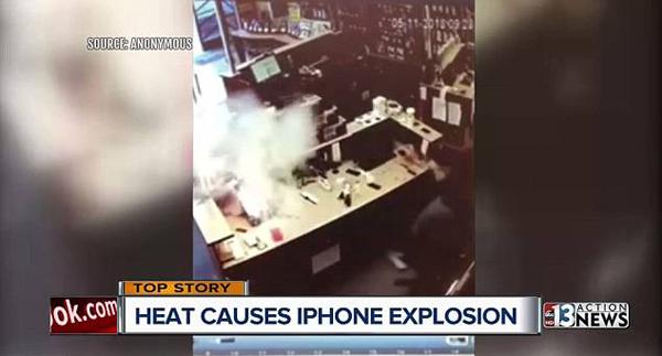美赌城一苹果手机维修时突然爆炸吓坏维修师