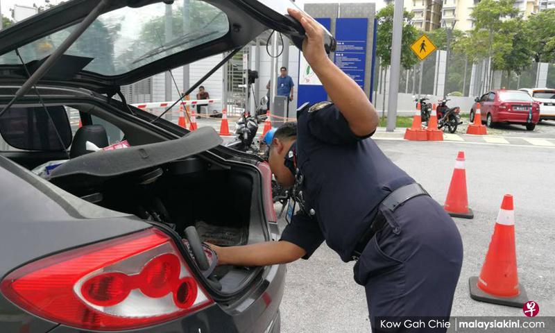 车辆离开大马反贪会总部必须接受检查