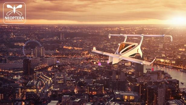 Neoptera电动垂直起降飞机比例模型将下个月试飞