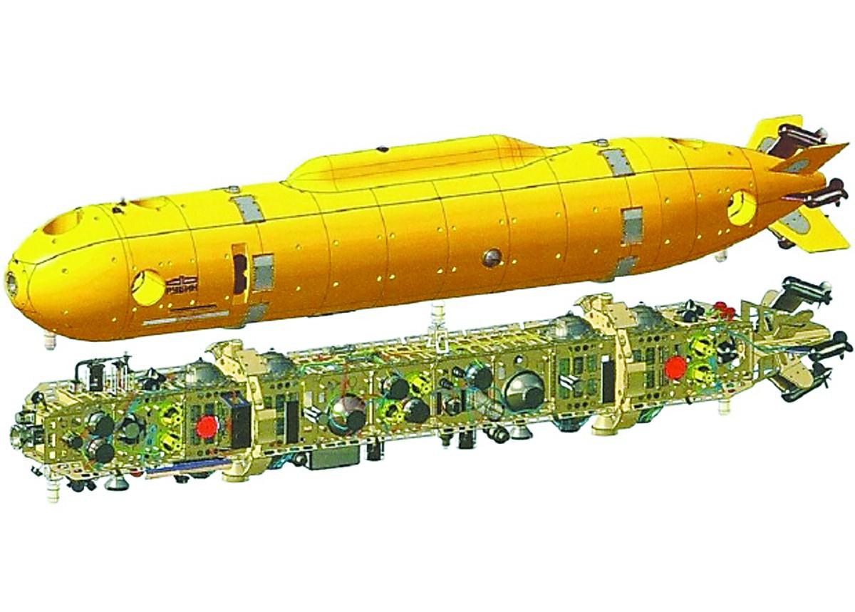 核潜艇携带、外形酷似鱼雷!俄试验新一代深潜器