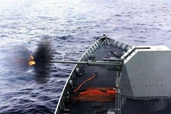 亮剑印度洋!我052D舰054A舰开展近距反击演练