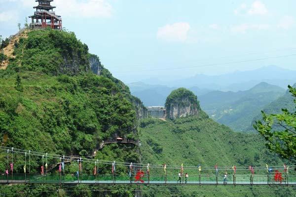 贵州万山:废弃矿山变旅游景点