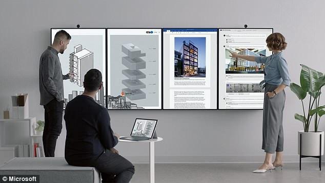 微软发布50.5英寸超大触屏平板 可四屏联机