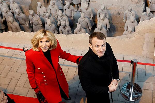 又见携妻乘兴临:法国总统今年访问西安