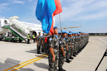 出征,中国蓝盔!第十七批赴黎维和部队出发