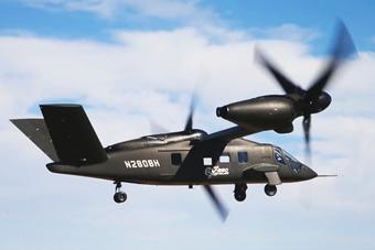 V-280旋翼机首次水平试飞 达到时速352公里