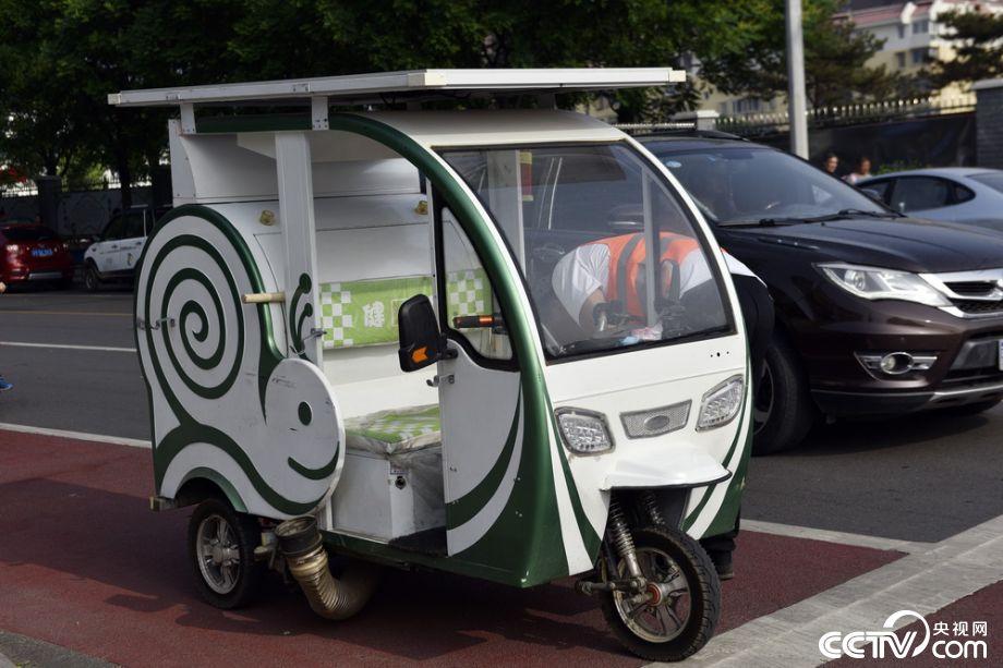 北京:顺义街头现吸尘减霾车