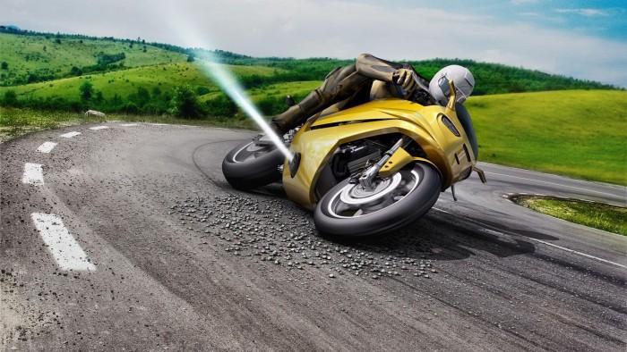 博世测试压缩气体驱动防滑技术 让摩托车更安全