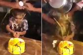 印尼小寿星被家人浇蛋液遭谴责