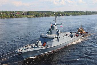 麻雀虽小五脏俱全:俄最新导弹艇首舰海试
