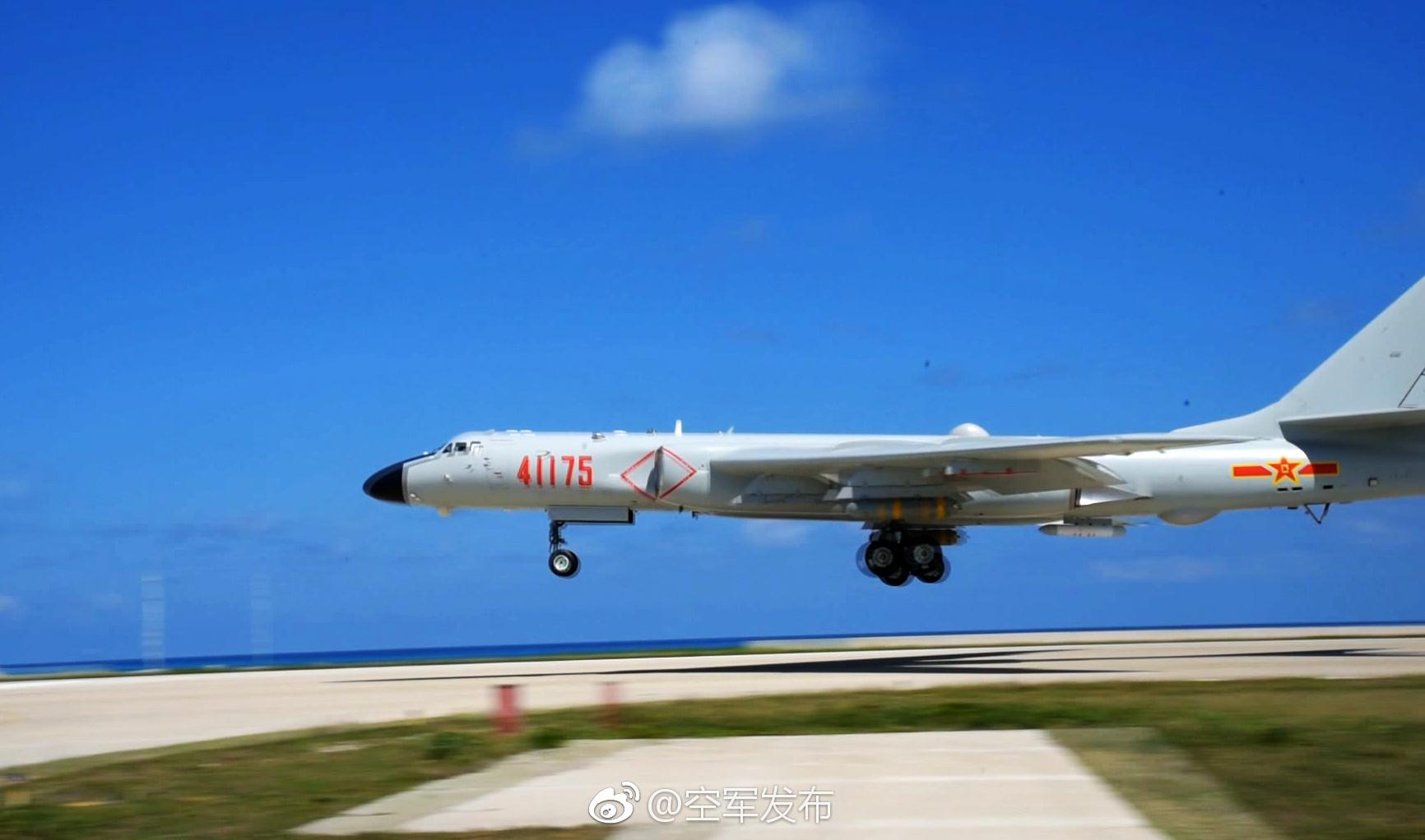 重磅!空军宣布轰6K岛礁起降提升海上实战能力