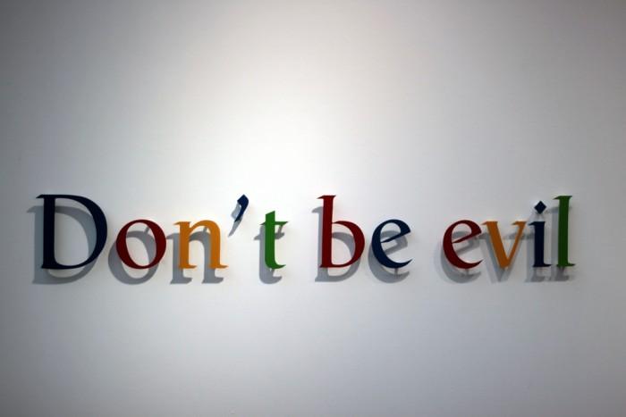 """谷歌更新行为准则 彻底移除""""不作恶""""口号"""