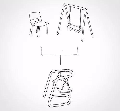简洁的一笔画椅子