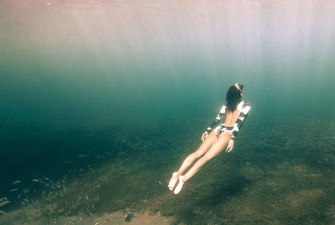 摄影师拍加勒比海浮潜者 展大海深处魅力