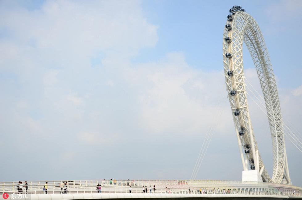 """世界最大无轴摩天轮""""渤海之眼""""正式迎客?比伦敦眼还高"""
