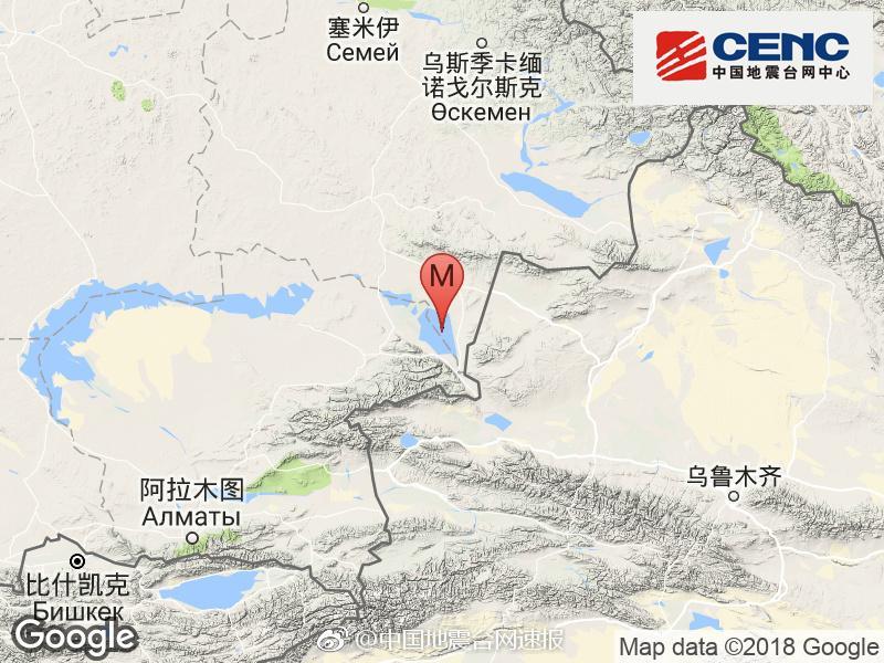 哈萨克斯坦发生4.2级地震 震中距我国边境线最近约44公里